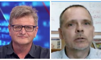 Pavel Šafr diskutoval s Miroslavem Koreckým komentátorem MF DNES. (CNN Prima News)
