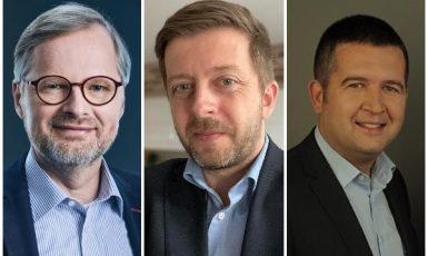 Petr Fiala, Vít Rakušan, Jan Hamáček (ČTK / Profimedia.cz)