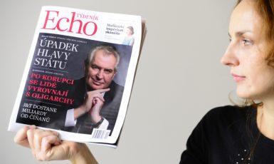 Týdeník Echo, který vyšel poprvé v listopadu 2014, se posunul k zapšklosti, mrzutosti a zakyslosti (ČTK/Vondrouš Roman)