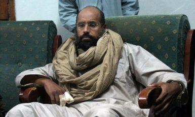 Sajf al-Islám Muammar al-Kaddáfí, syn libyjského diktátora Muammara Kaddáfího. (ČTK/AP/Ammar El-Darwish)