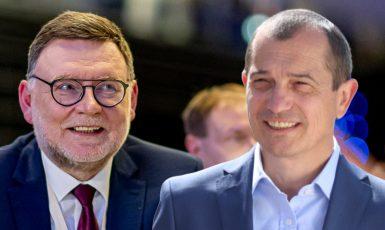 Možní příští ministři financí Zbyněk Stanjura (ODS) a Věslav Michalik (STAN). (Občanská demokratická strana, hnutí Starostové a nezávislí)