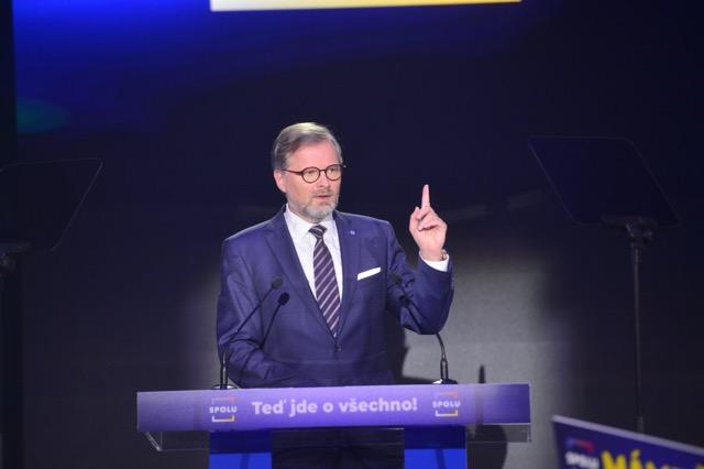 Lídr koalice SPOLU Petr Fiala (Zbyněk Pecák / FORUM 24)