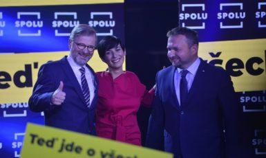 Petr Fiala, Markéta Pekarová Adamová a Marian Jurečka (Zbyněk Pecák / FORUM 24)