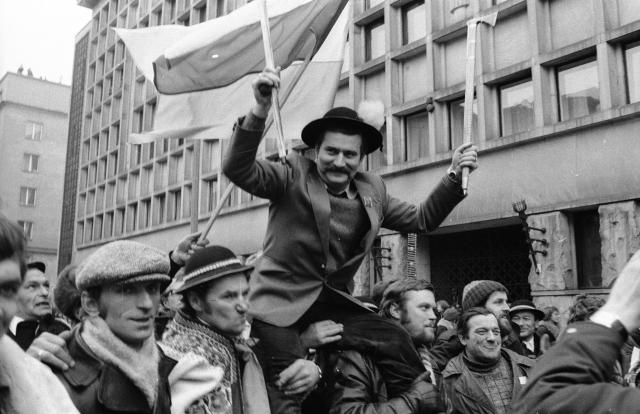 Vůdce polské Solidarity Lech Wałęsa (1981) (ČTK/PAP/ZBIGNIEW MATUSZEWSKI)