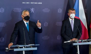 Maďarský premiér Viktor Orbán a český premiér Andrej Babiš (ANO) (ČTK)