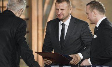 Pavol Krúpa na slavnostním ceremoniálu udílení státních vyznamenání od prezidenta Miloše Zemana (ČTK)