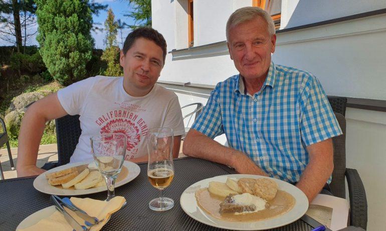 Karel Kaufner s Andrejem Babišem ml. (Karel Kaufner / použito se souhlasem autora)