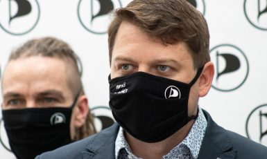 Pirátský poslanec Tomáš Martínek (Se souhlasem Pirátské strany)