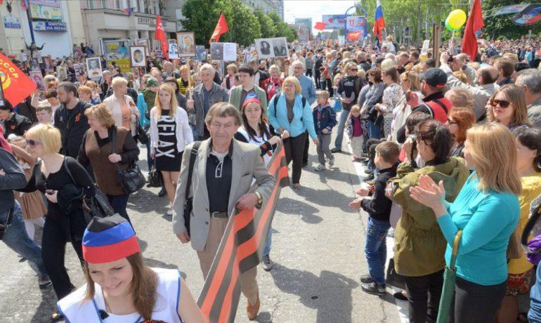 Proruští separatisté v Doněcku, rok 2016. (commons.wikimedia.org/CC BY-SA 3.0)