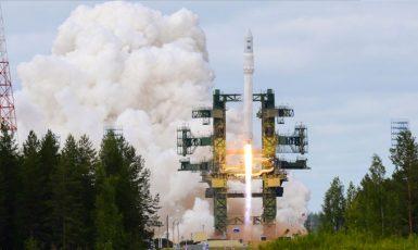 První zkušební start nosné rakety Angara-1.2PP z kosmodromu Pleseck v roce 2010. (commons.wikimedia.org/CC BY 4.0)