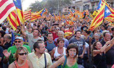 Demonstrace katalánských separatistů. (commons.wikimedia.org/CC BY-SA 3.0)