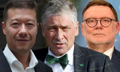 Tomio Okamura, Ivo Vondrák, Zbyněk Stanjura (FORUM 24 / ČTK)