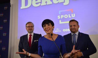 Petr Fiala, Markéta Pekarová Adamová, Marian Jurečka (Zbyněk Pecák / se svolením autora)