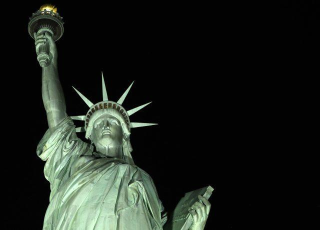 Socha Svobody v New Yorku – symbol svobodného Západu (ČTK/AP/Kathy Willens)