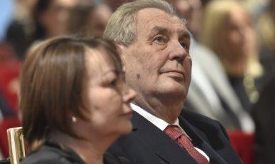 Prezident Miloš Zeman s první dámou Ivanou (ČTK)