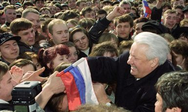 Boris Jelcin v předvolební kampani v roce 1996. (commons.wikimedia.org/CC BY 4.0)